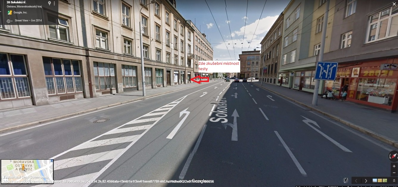 Screenshot of 26 Sokolská tř. – Mapy Google